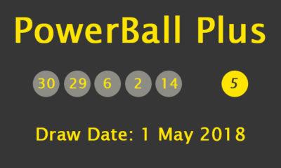 SA PowerBall Plus Results and Payouts on Tuesday, 1 May 2018
