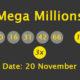 Mega Millions Results and Payouts on Tuesday, 20 November 2018