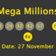 Mega Millions Results and Payouts on Tuesday, 27 November 2018